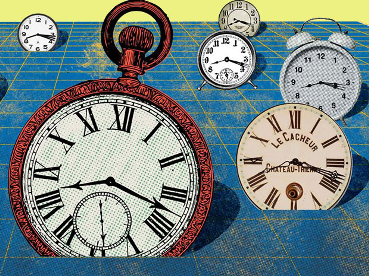 Measuring time at one point can alter the flow of time in the surrounding space