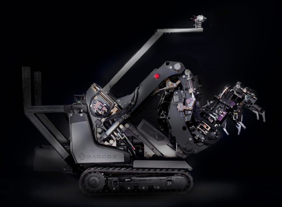 Sarcos GT is a highly mobile, dexterous human-controlled robotic system