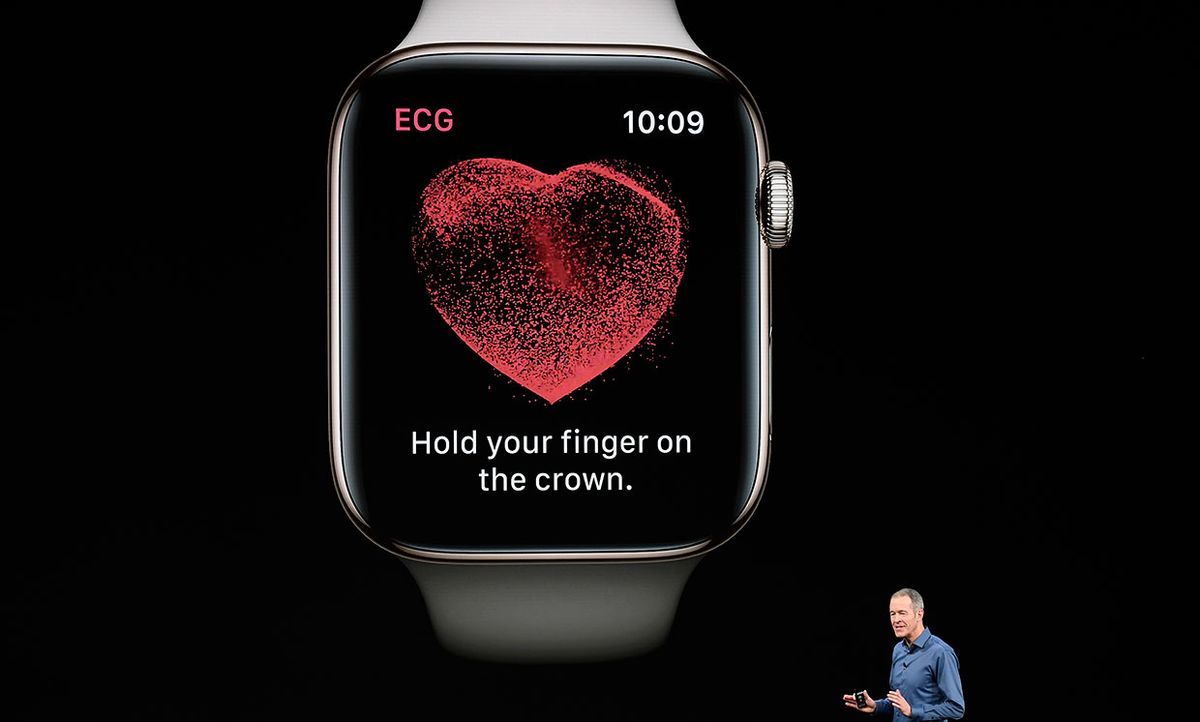 Jeff Williams, chief operating officer of Apple Inc., speaks about the Apple Watch during an event at the Steve Jobs Theater in Cupertino, California, U.S., on Wednesday, Sept. 12, 2018.