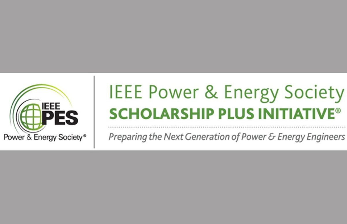 Image: IEEE Power & Energy Society Scholarship Plus Initiative