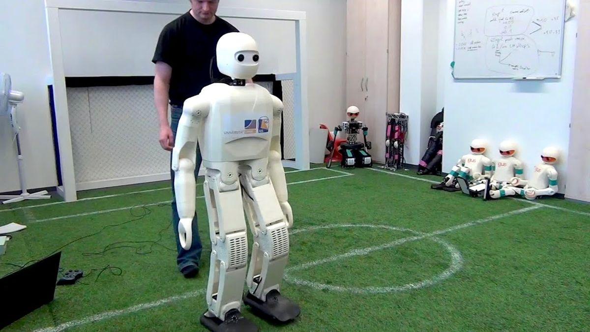 Soccer playing humanoid robot
