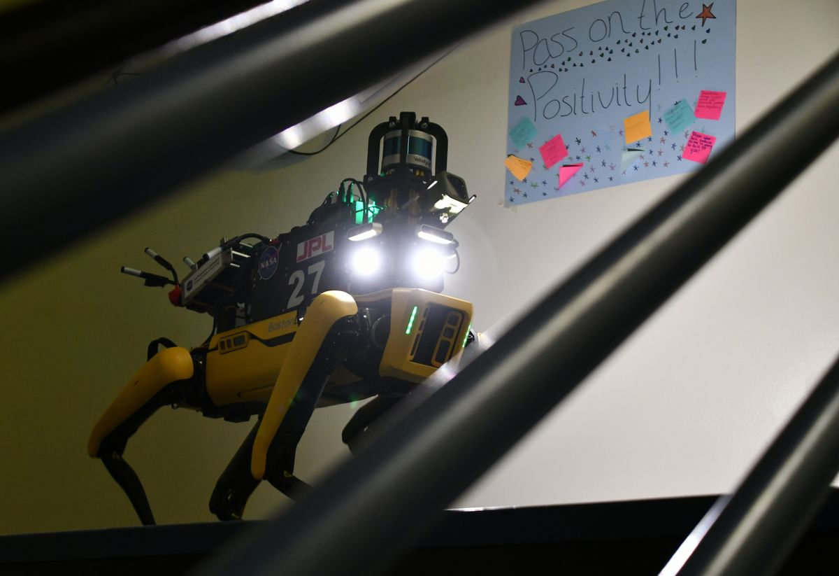 Boston Dynamics Spot robot at Darpa Subterranean Challenge