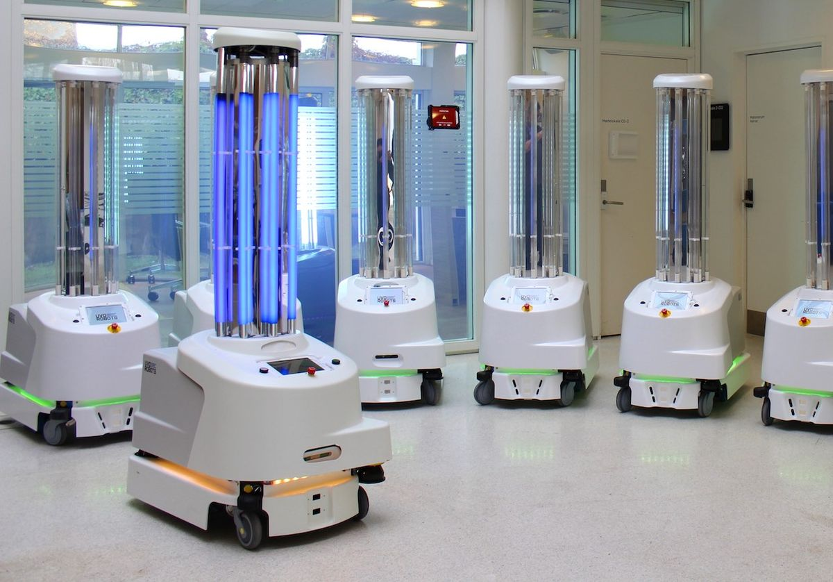 Hundreds of these ultraviolet disinfection robots are being shipped to China to help fight the coronavirus outbreak
