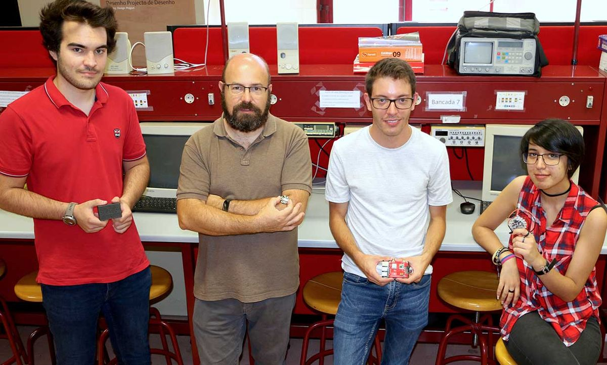 Zelar@CB team, from left to right: Francisco Fernandes, Rogério Dionísio, Fabio Formiga and Cassandra Jesus.