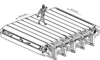 CyberWalk: Giant Omni-Directional Treadmill To Explore Virtual Worlds