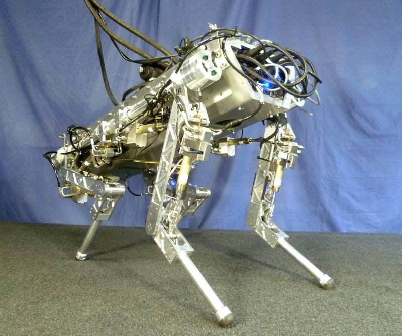 HyQ Quadruped Robot From Italy Can Trot, Kick