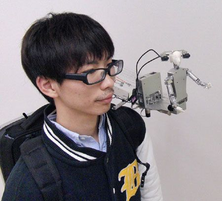 Japanese MH-2 Shoulder Robot Wants To Be Your Friend, Literally