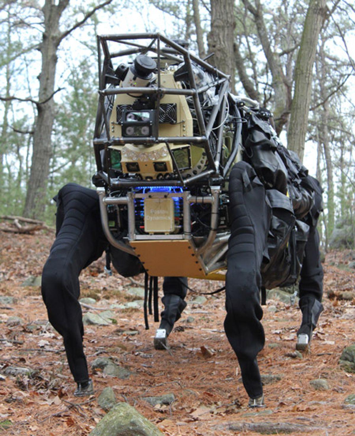 LS3 AlphaDog Robot Begins Outdoor Assessment (Video)