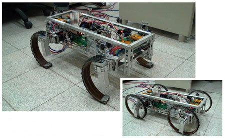 Robot's Magic Wheels Transform Into Legs