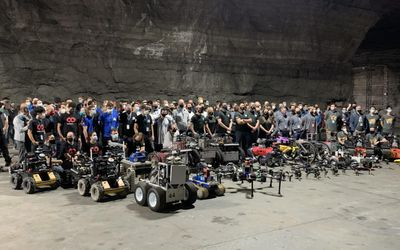 DARPA SubT competitors and their robots