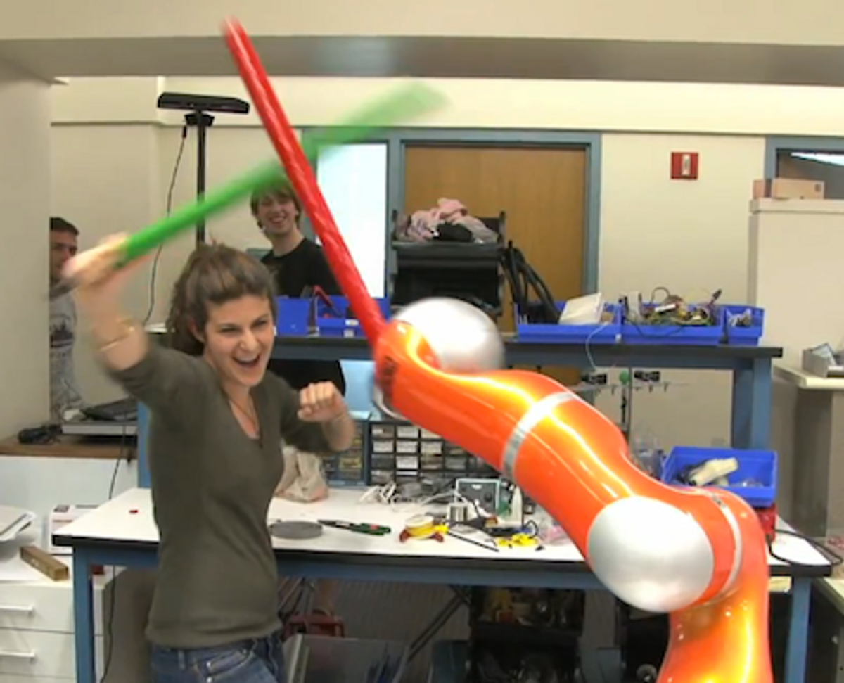 Stanford's 'JediBot' Tries to Kill You With a Foam Sword