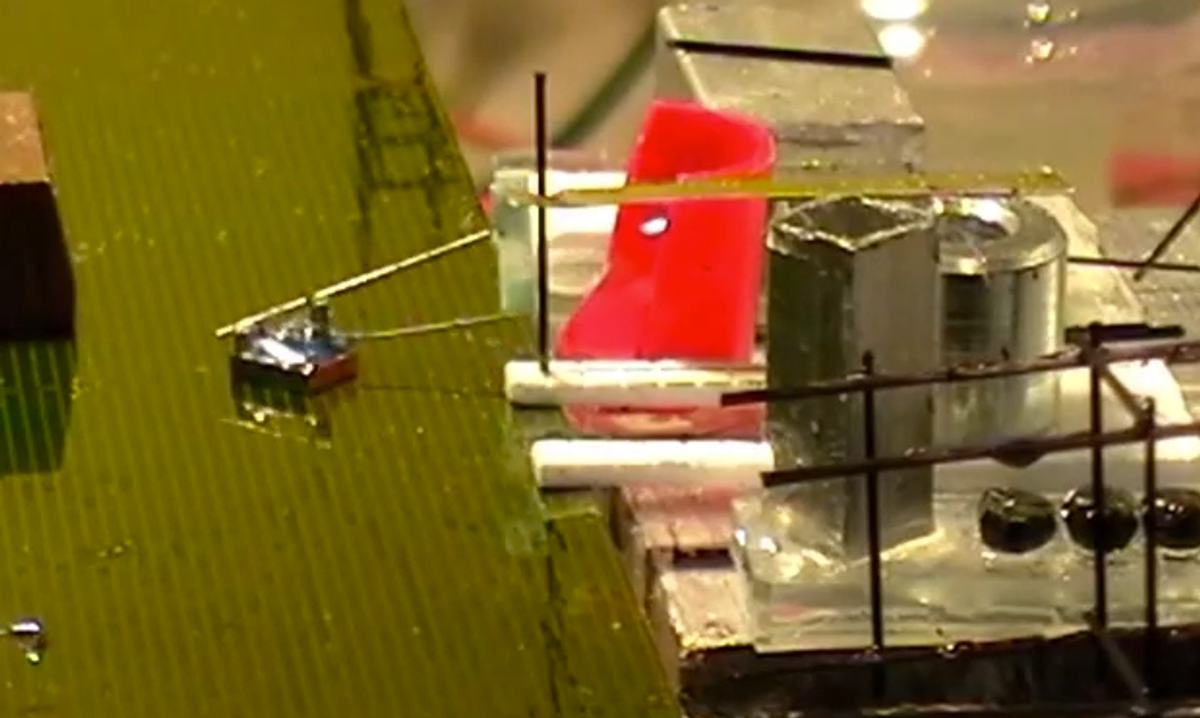Watch SRI's Nimble Microrobots Cooperate to Build Structures