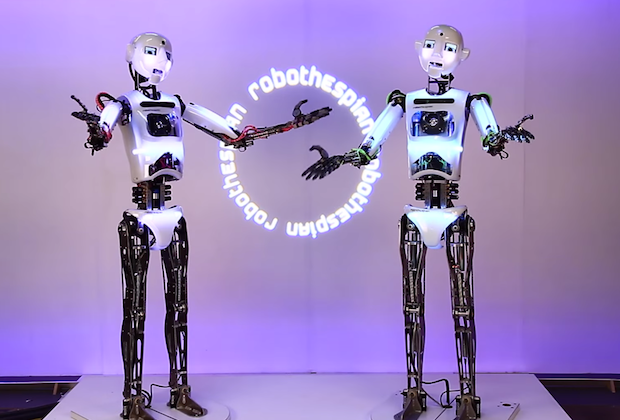 Video Friday: Humanoids Sing, Giant Eyeball Robot, and Kuka Ping Pong Revenge