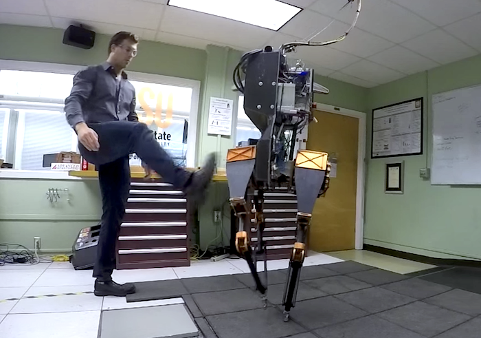 Video Friday: Drone Dogfight, 3D-Printed Arm, and Kicking a Robot