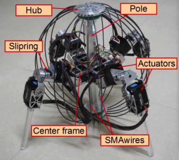 Throwable Robot Ball Unfolds Legs to Walk