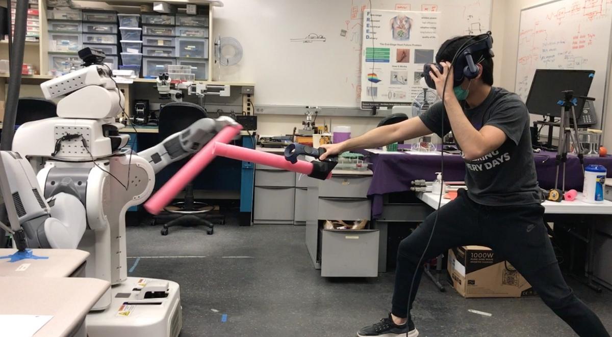 Foam sword fighting with a PR2
