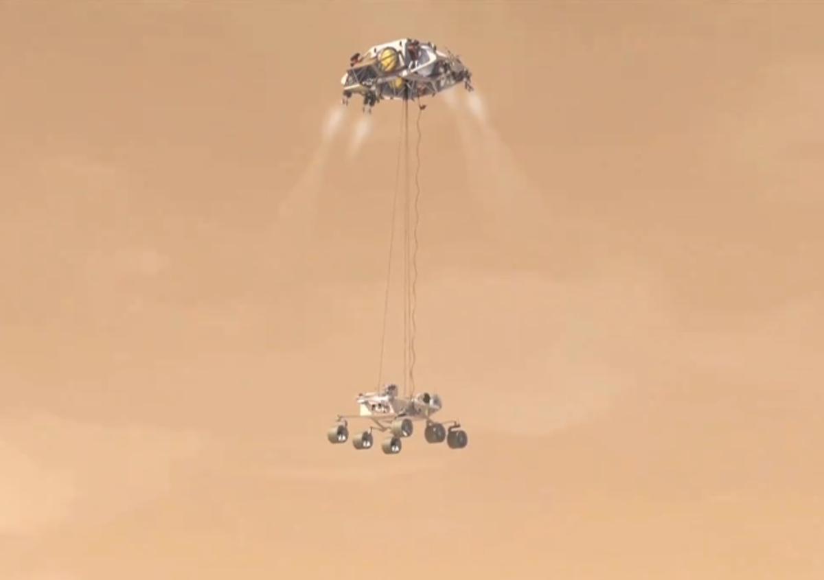 How NASA's Curiosity Rover Will Land on Mars