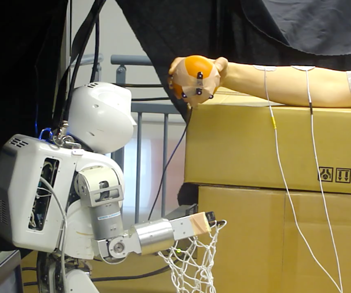 Watch This Robot Control a Person's Arm Using Electrodes