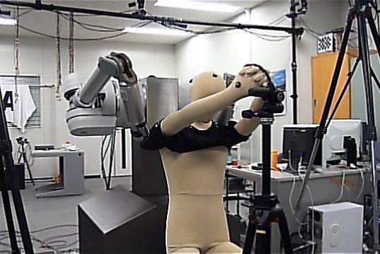 Robot Helps You Put Your Shirt On