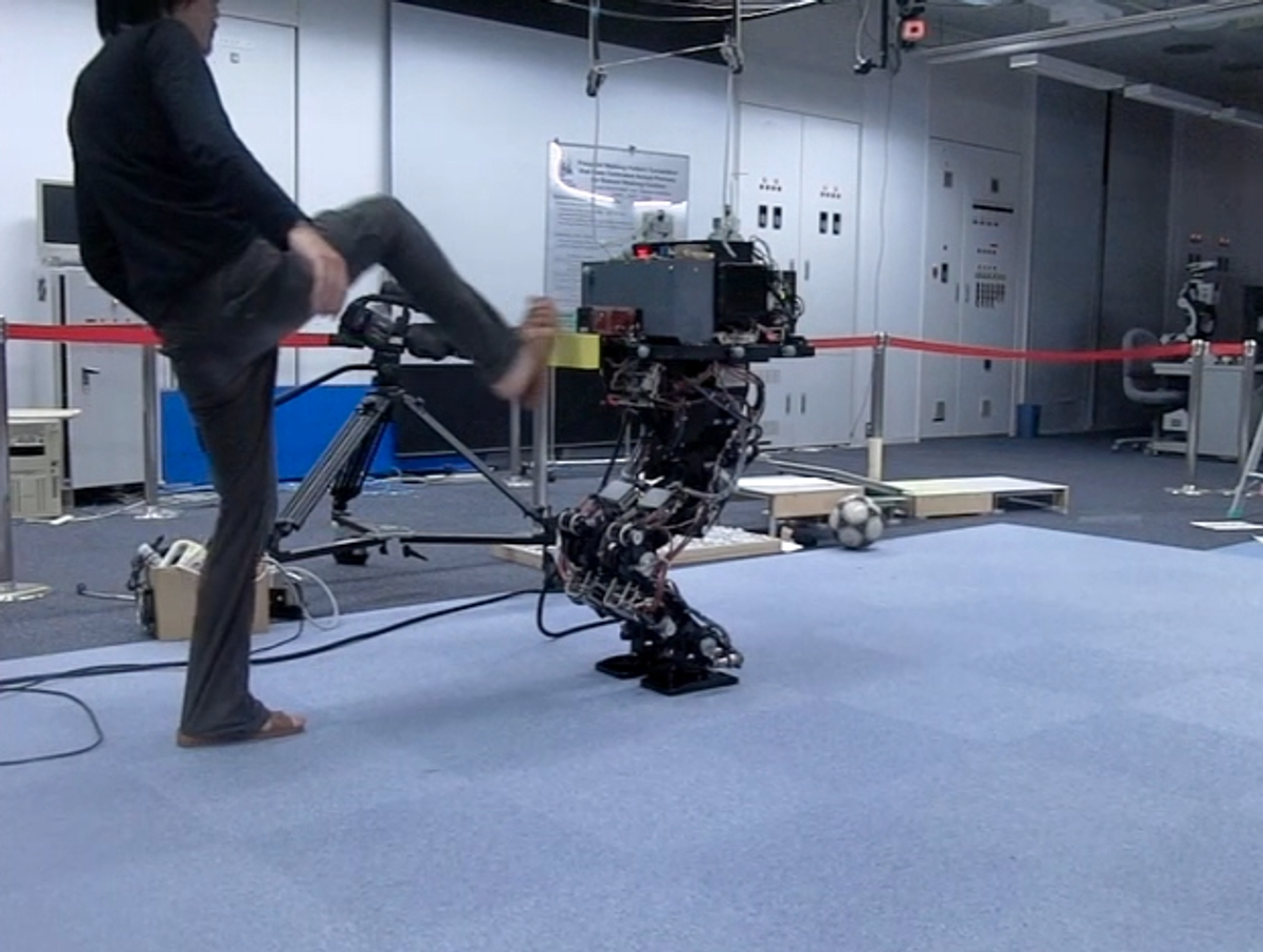 Japanese Humanoid Robot Can Keep Its Balance After Getting Kicked