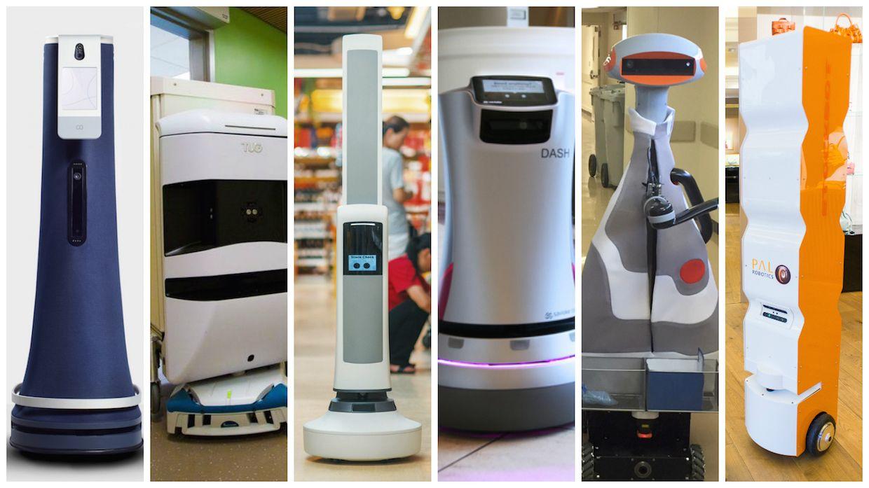 Indoor robots for commercial spaces: Cobalt Robotics, Aethon, Simbe, Savioke, Diligent Droids, and PAL Robotics