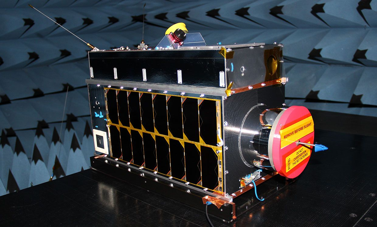 Iris, a methane-tracking microsatellite built by the company GHGSat, is slated to launch as soon as June 20th.