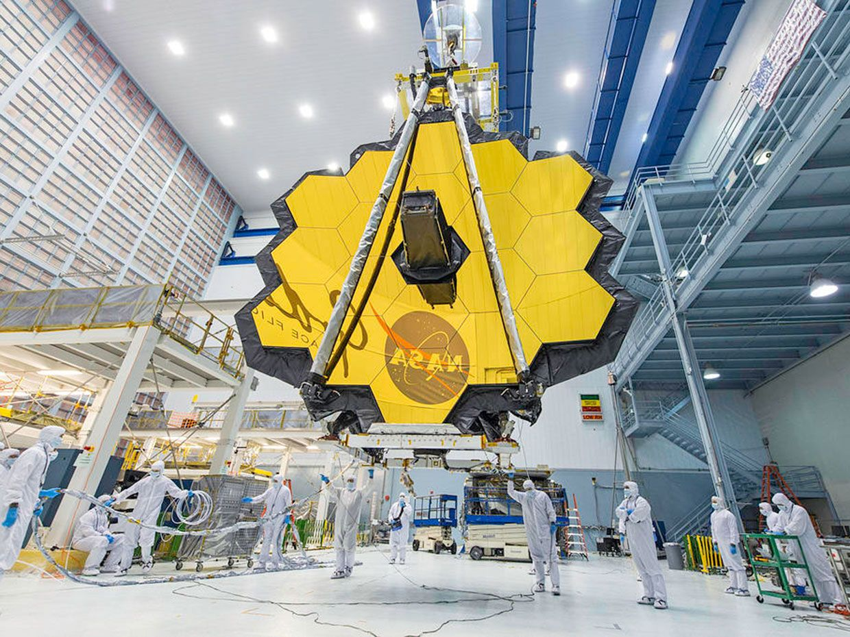 James Webb Space Telescope at the Johnson Space Center.
