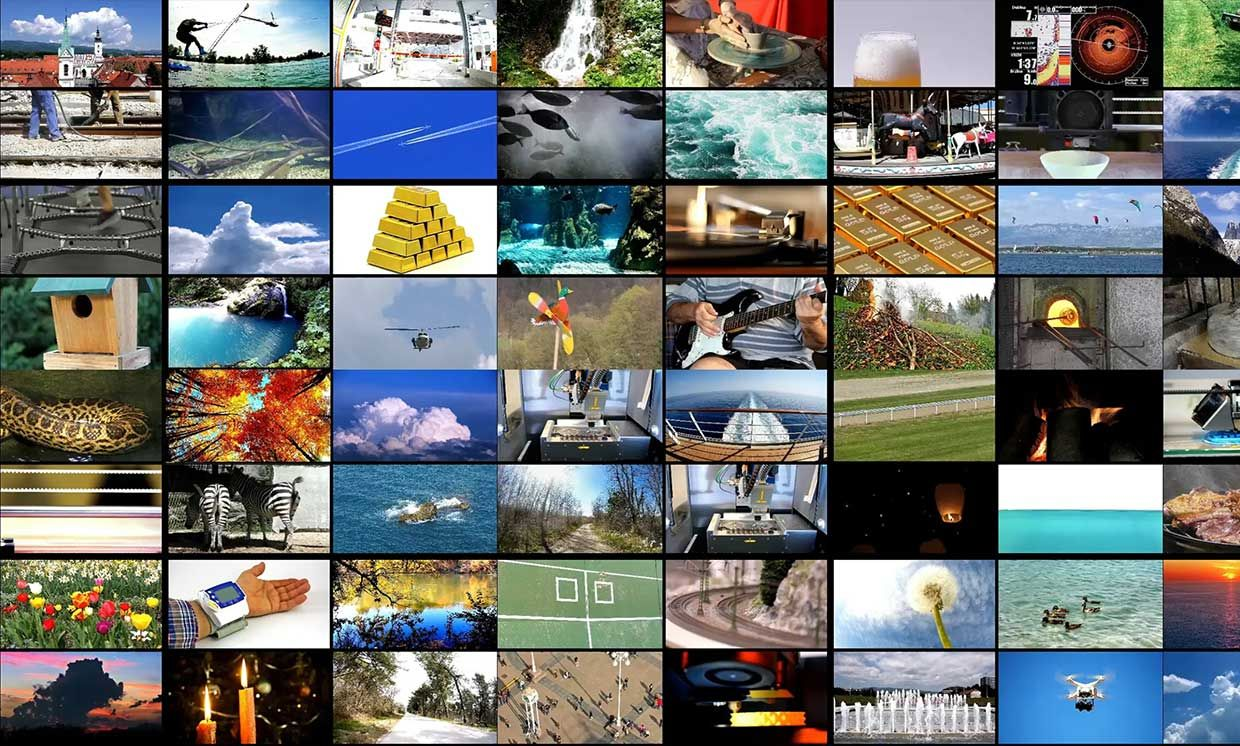 many photos in a grid