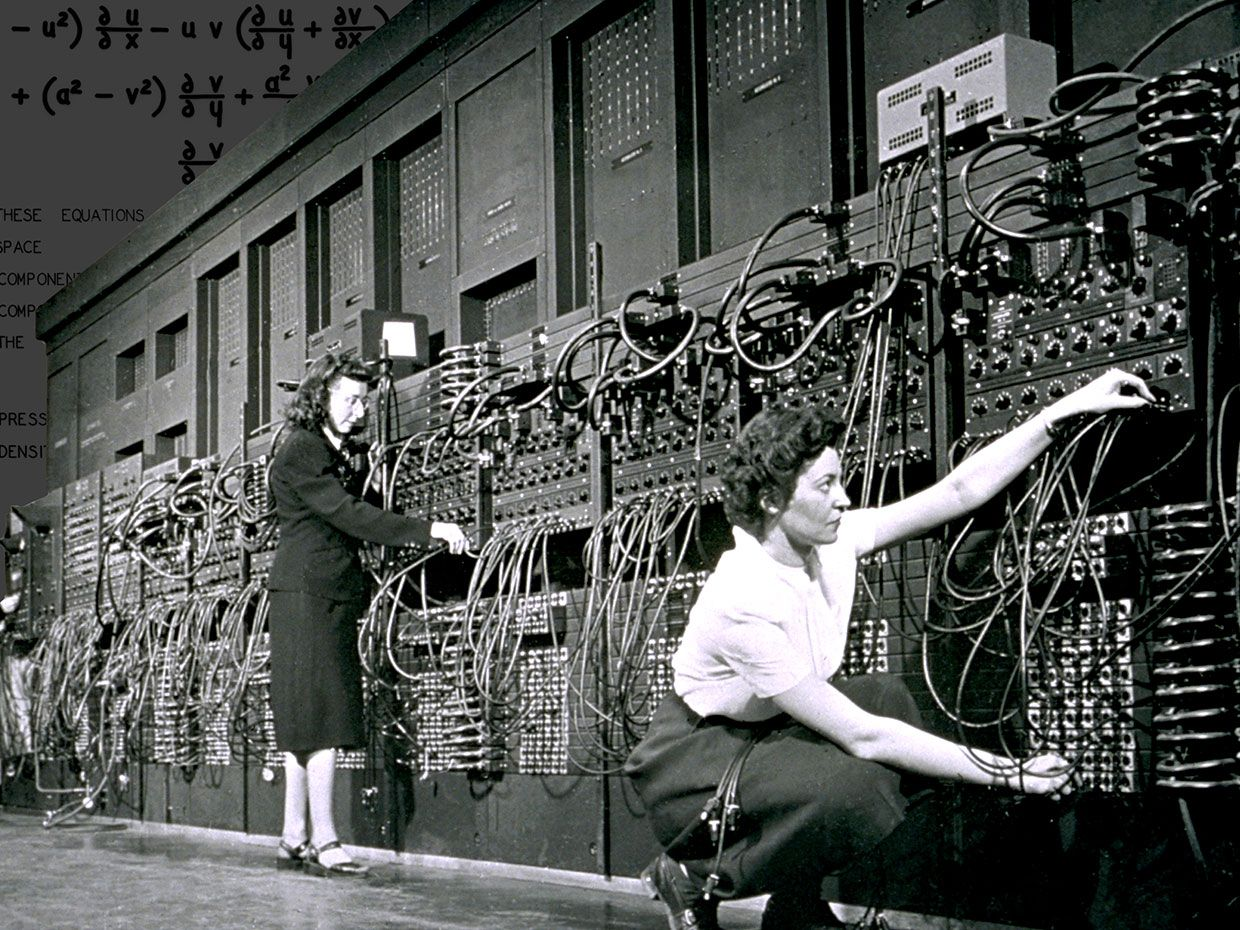 Marlyn Wescoff and Ruth Lichterman were two of the female programmers of ENIAC.
