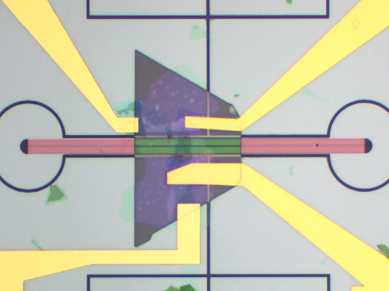 Microscopic image of the device