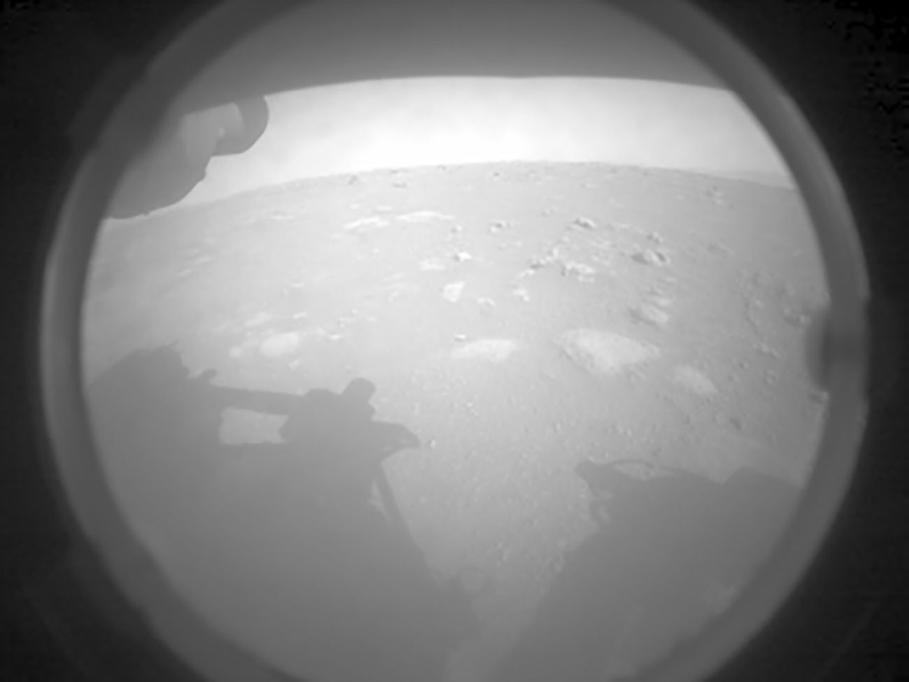 NASA's Mars Perseverance rover acquired this image of the area in front of it using its onboard Front Left Hazard Avoidance Camera A.