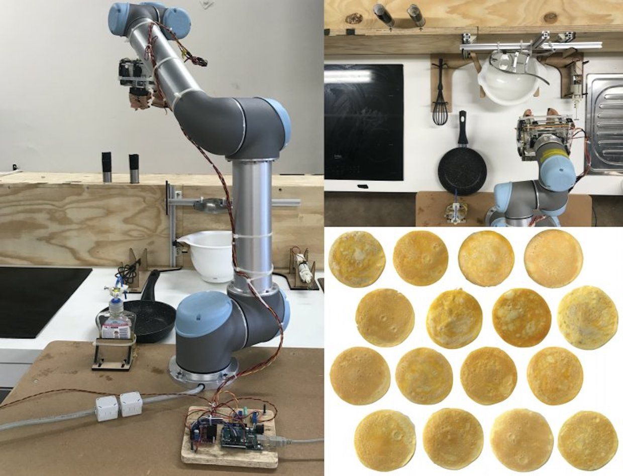 OmeletteBot, a fully autonomous end-to-end omelet-cooking robot