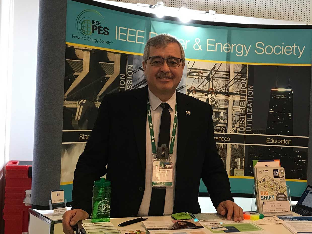 Patrick Ryan, executive director of the IEEE Power & Energy Society, representing the society at the 2018 International Council on Large Electric Systems Session in Paris.