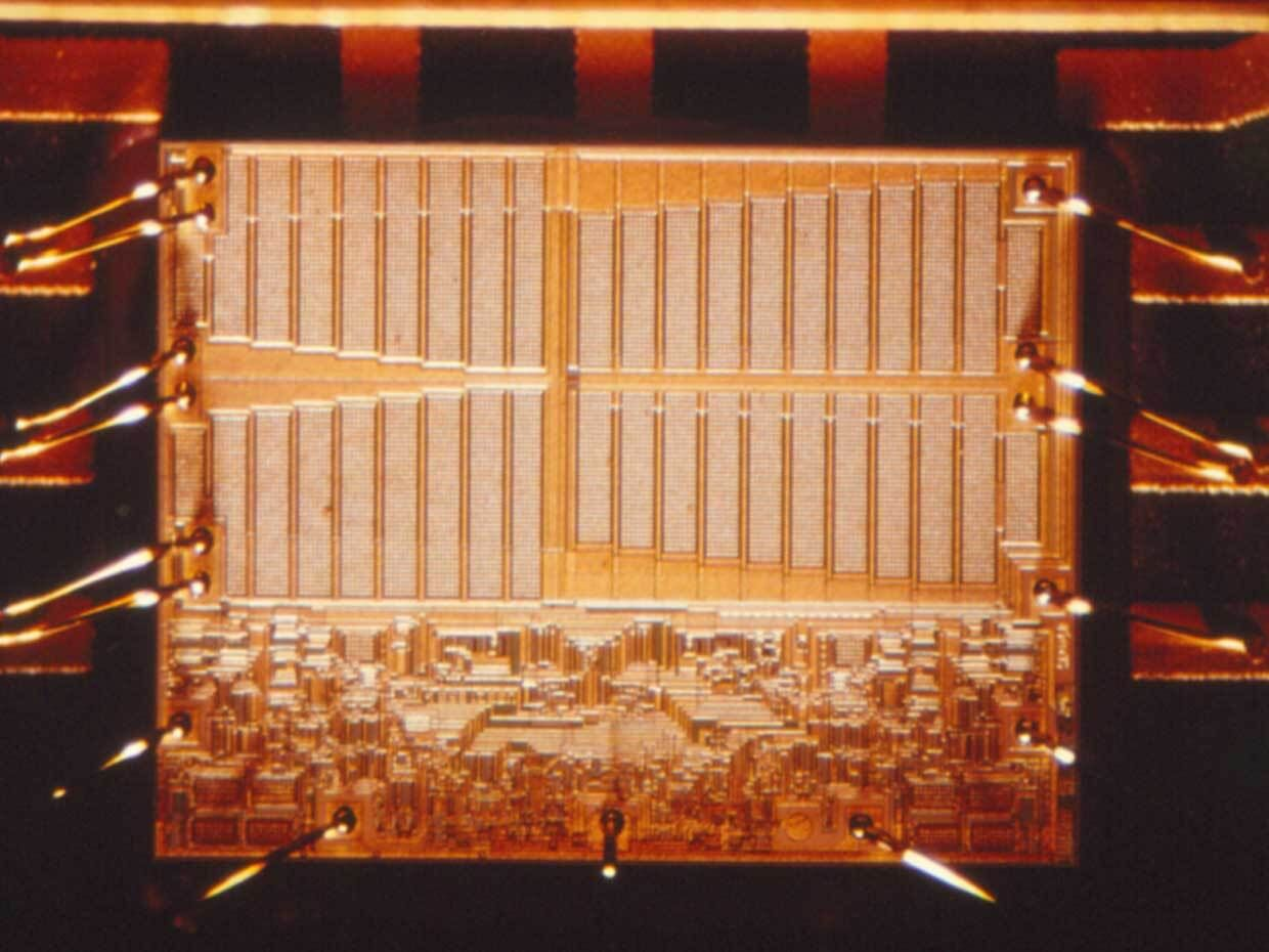 Photo of a chip