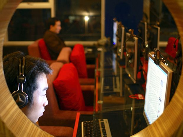 Photo of a computer user.