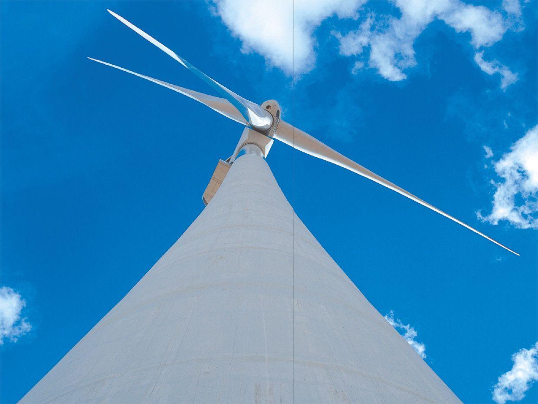 Photo of a windmill.