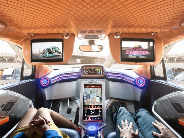 Photo of car interior by Rinspeed