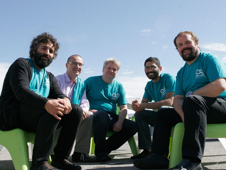 Photo of The Arduino core team