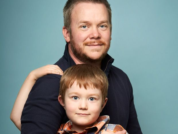 Photo of the author and his son.