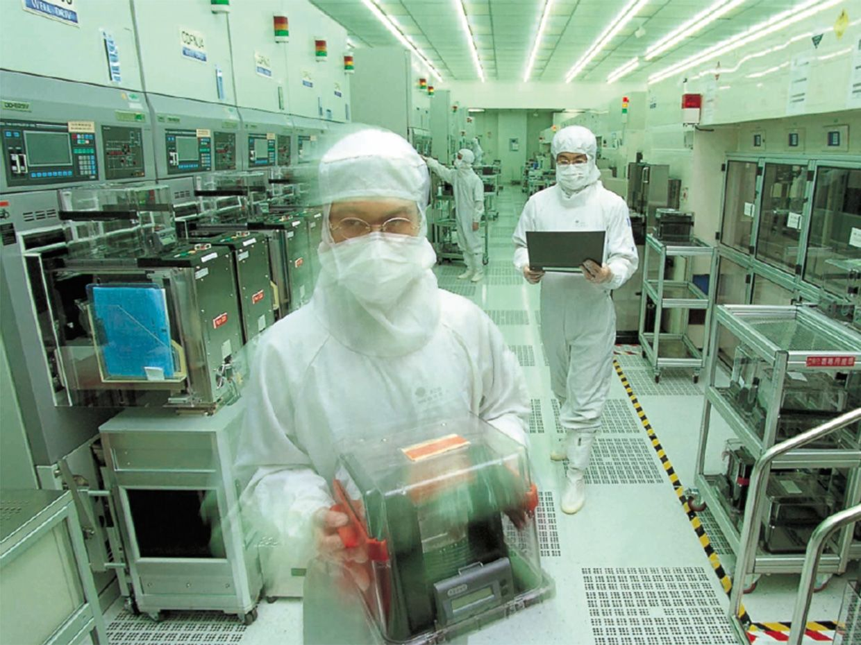 Photo of  the Taiwan Semiconductor Manufacturing Co's newest plant, in the Songjiang suburb of Shanghai, China.