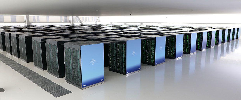 Photograph of Japanese supercomputer Fugaku.