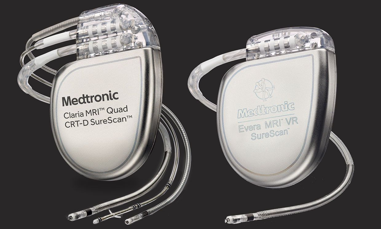Photograph of two Medtronic devices.