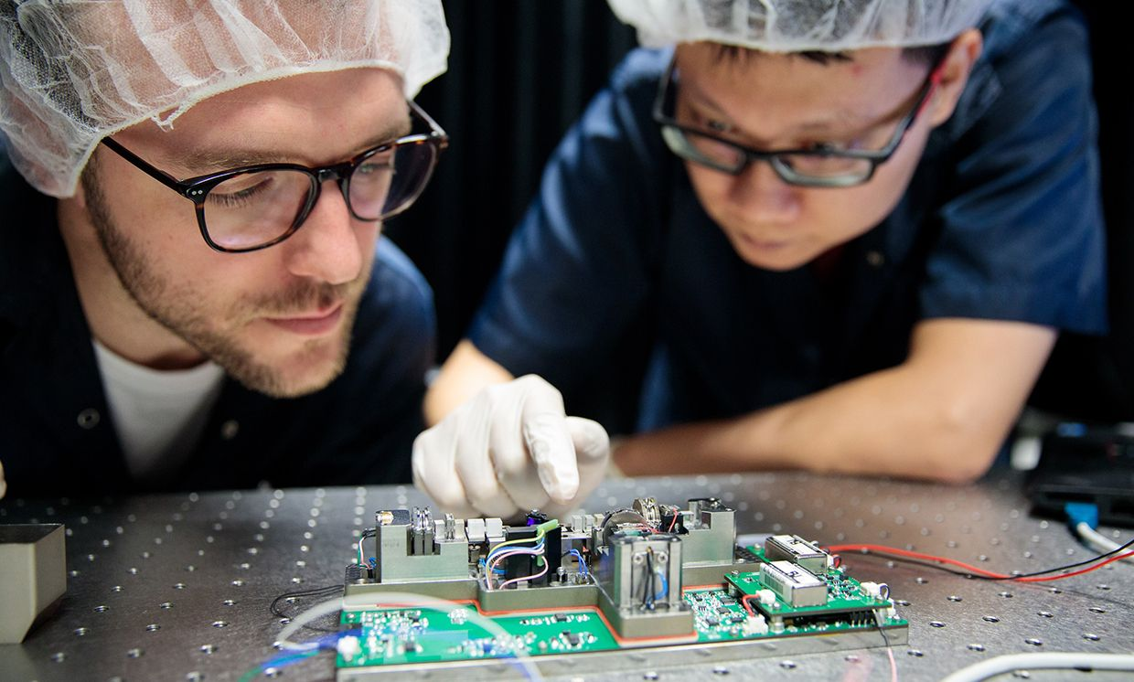 Researchers at the Centre for Quantum Technologies in Singapore building rugged and compact QKD instruments for spaceflight.