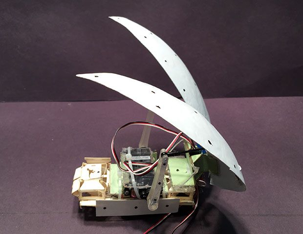 Researchers develop cockroach robot that flips itself with insect-inspired wings