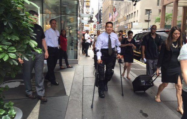 ReWalk Robotics's New Exoskeleton Lets Paraplegic Stroll the Streets of NYC
