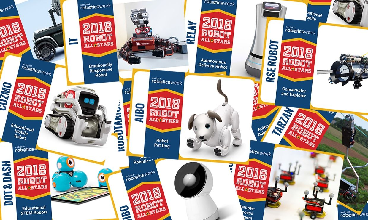 Robot trading cards