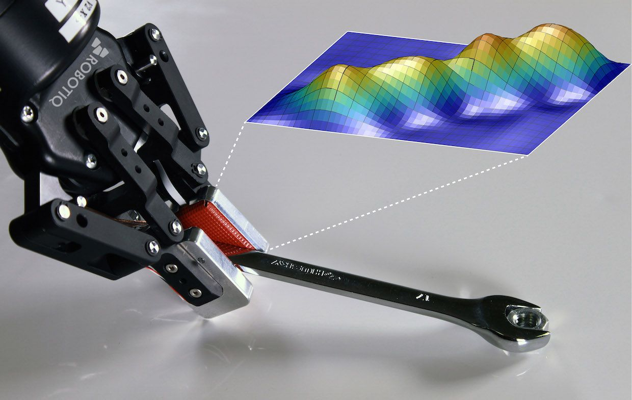 Robotiq robot gripper grasping and manipulating object using tactile intelligence