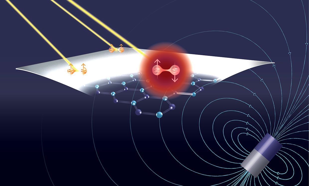 Room-temperature quantum technology: Atomic spins trapped in defects in the two-dimensional material hexagonal boron nitride are sensitive to magnetic fields, and their states can be accessed via lasers, enabling them to be used as qubits.