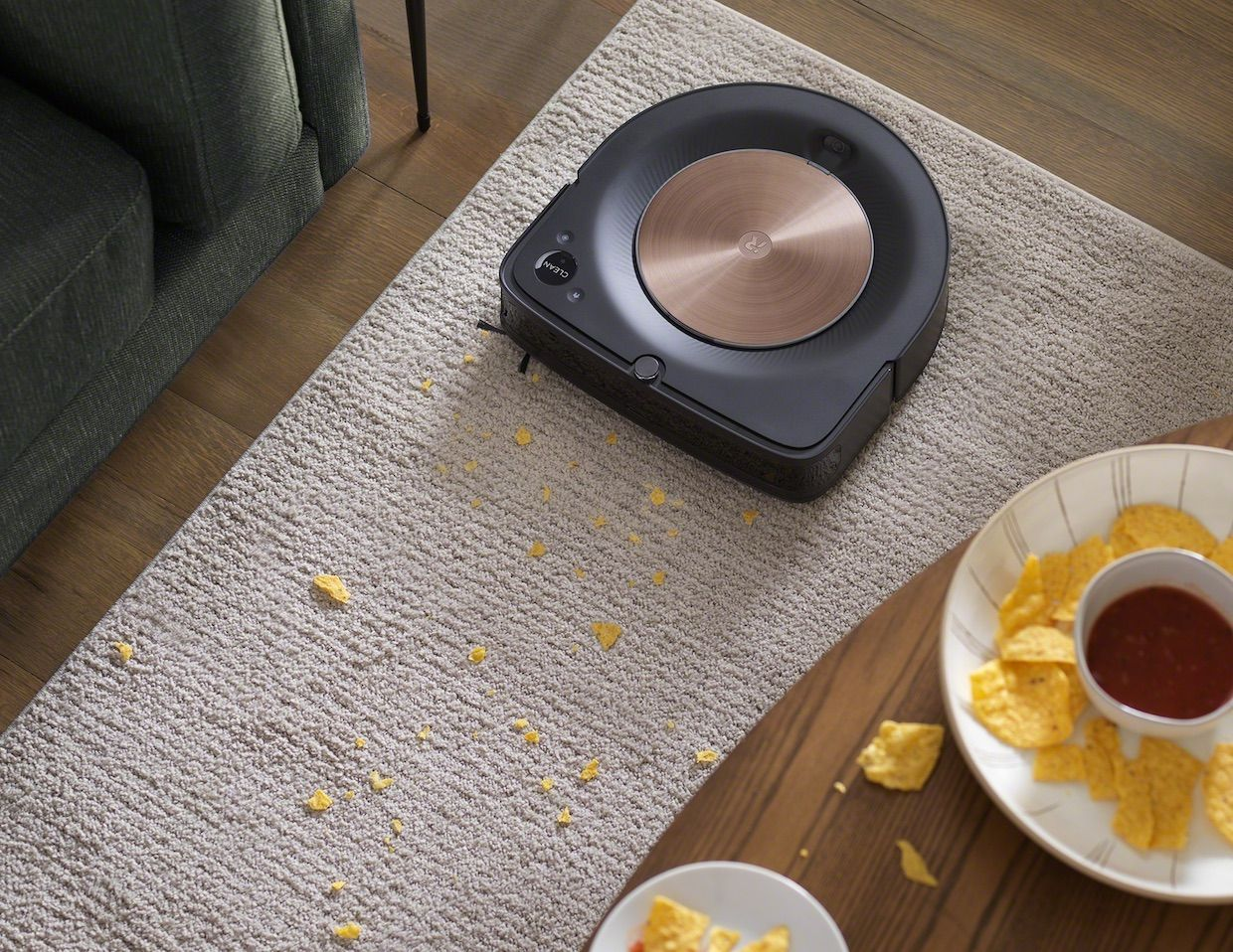 Roomba cleaning a carpet