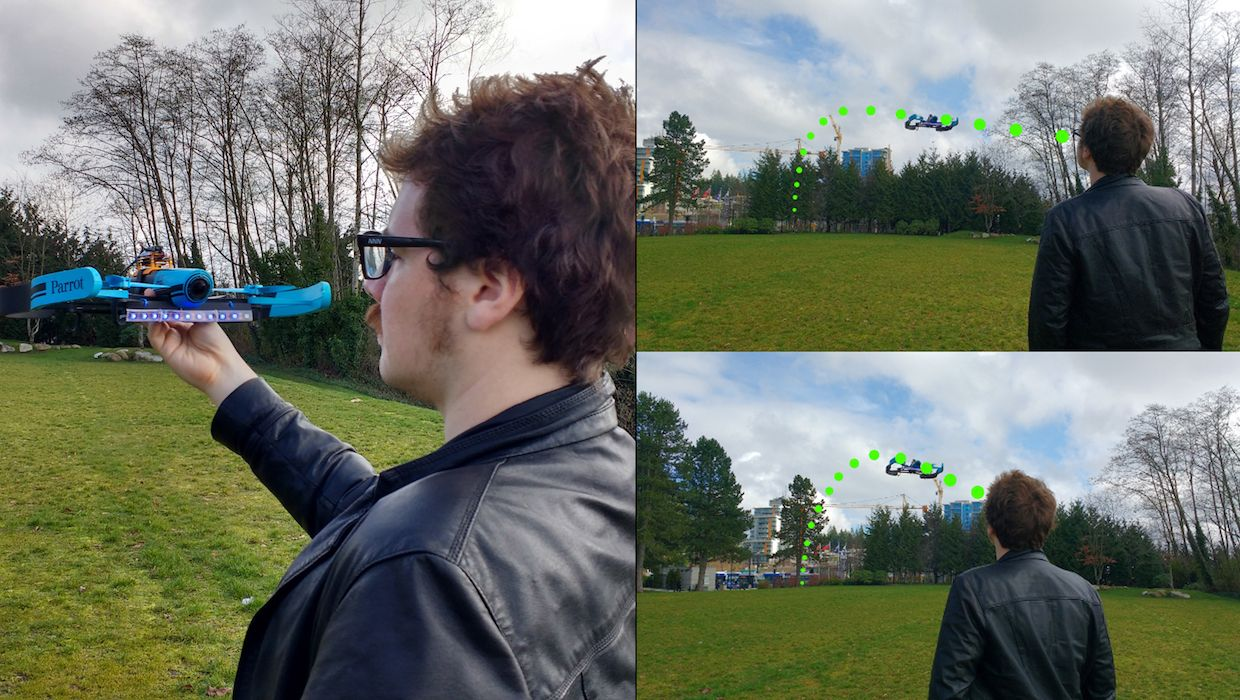 Send your drone flying by making a ridiculous face at it